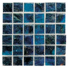 "Elemental 0.75"" x 0.75"" Glass Mosaic Tile in Cornflower"