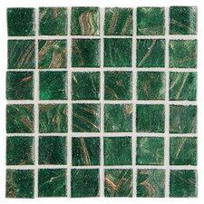 "Elemental 0.75"" x 0.75"" Glass Mosaic Tile in Shamrock"