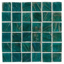 "Elemental Glass 3/4"" x 3/4"" Mosaic Tile in Turquoise"
