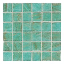 "Elemental 0.75"" x 0.75"" Glass Mosaic Tile in Mint Julep"