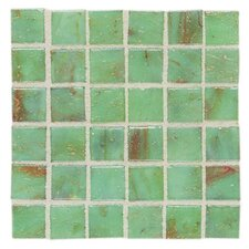 "Elemental 0.75"" x 0.75"" Glass Mosaic Tile in Celadon"