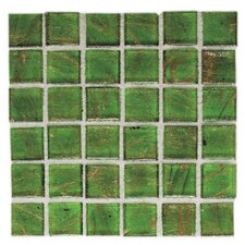 "Elemental 0.75"" x 0.75"" Glass Mosaic Tile in Sour Apple"