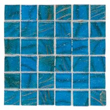 "Elemental 0.75"" x 0.75"" Glass Mosaic Tile in Sardinian Blue"