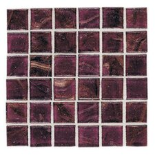 "Elemental 0.75"" x 0.75"" Glass Mosaic Tile in Cranberry Crush"