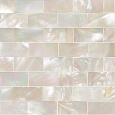 """Ocean Jewels 2"""" x 2"""" Running Board Accent Tile in Mother of Pearl"""