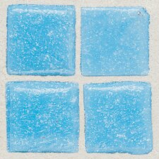 "Sonterra 1"" x 1"" Glass Mosaic Tile in Acapulco Blue"