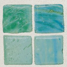 "Sonterra 1"" x 1"" Glass  Mosaic Tile in Verde"