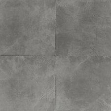 "Concrete 13"" x 13"" Porcelain Field Tile in Steel Structure"