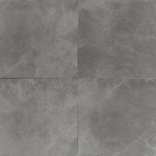 "Concrete 20"" x 20"" Porcelain Field Tile in Steel Structure"