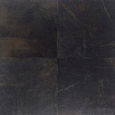 """Concrete 20"""" x 20"""" Porcelain Field Tile in Downtown Black"""