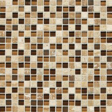 "Stone Radiance 0.63"" x 0.63"" Slate Mosaic Tile in Caramel Travertine"