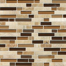 Stone Radiance Random Sized Slate Mosaic Tile in Caramel Travertine