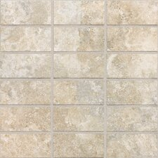 "San Michele 4"" x 2"" Ceramic Unpolished Mosaic in Crema"
