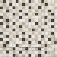 "Stone Radiance 0.63"" x 0.63"" Slate Mosaic Tile in Kinetic Khaki"