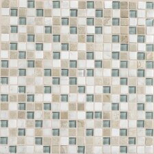 "Stone Radiance 0.63"" x 0.63"" Slate Mosaic Tile in Whisper Green"