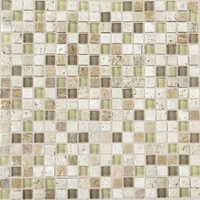 "Stone Radiance 0.63"" x 0.63"" Slate Mosaic in Mushroom/Morning Sun"