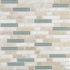Stone Radiance Random Sized Slate Mosaic Tile in Whisper Green