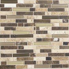 Stone Radiance Random Sized Slate Mosaic Tile in Brown