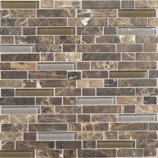 Stone Radiance Random Sized Slate Mosaic Tile in Brown