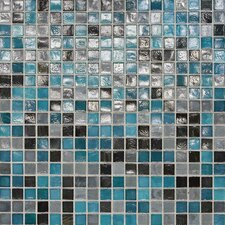 """City Lights 0.5"""" x 0.5"""" Glass Mosaic Tile in Rio"""