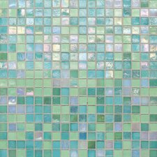 "City Lights 0.5"" x 0.5"" Glass Mosaic Tile in Blue"