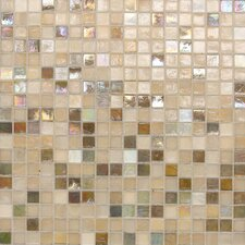 "City Lights 0.5"" x 0.5"" Glass Mosaic Tile in Beige"