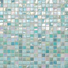 "City Lights 0.5"" x 0.5"" Glass Mosaic Tile in South Beach"
