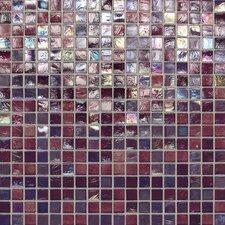 "City Lights 0.5"" x 0.5"" Glass Mosaic Tile in Purple"