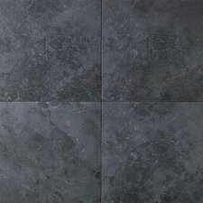 Continental Slate 12'' x 12'' Porcelain Field Tile in Asian Black