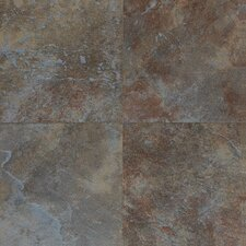 Continental Slate 12'' x 12'' Porcelain Field Tile in Tuscan Blue