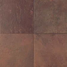 Continental Slate 18'' x 18'' Porcelain Field Tile in Indian Red
