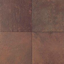 Continental Slate 6'' x 6'' Porcelain Field Tile in Indian Red
