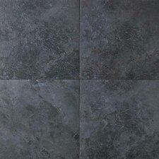 Continental Slate 6'' x 6'' Porcelain Field Tile in Asian Black