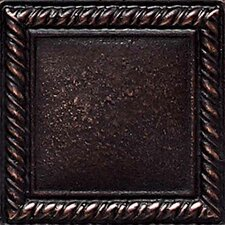 "Ion Metals 2"" x 2"" Decorative Rope Accent Tile in Oil Rubbed Bronze"