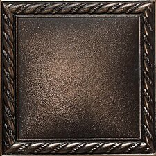 "Ion Metals 4-1/4"" x 4-1/4"" Decorative Rope Accent Tile in Antique Bronze"
