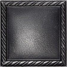 "Ion Metals 4-1/4"" x 4-1/4"" Decorative Rope Accent Tile in Antique Nickel"