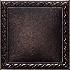"Ion Metals 4-1/4"" x 4-1/4"" Decorative Rope Accent Tile in Oil Rubbed Bronze"