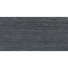Fabrique 12'' x 24'' Porcelain Field Tile in Noir Linen