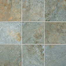 Franciscan Slate 11.75'' x 11.75'' Porcelain Field Tile in Coastal Azul