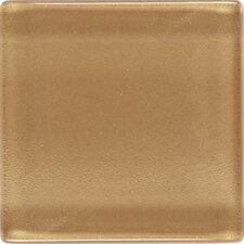 "Illustrations 1"" x 1"" Ceramic Mosaic Tile in Amber Gold"