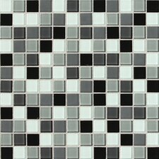 "Illustrations 1"" x 1"" Ceramic Mosaic Tile in Pewter Blend"