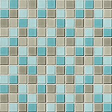 "Isis 1"" x 1"" Ceramic Mosaic Tile in Whisper Blend"