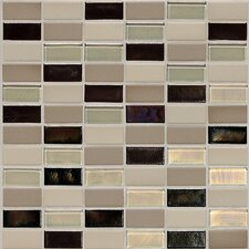 Keystones Blends 1'' x 2'' Porcelain Mosaic Tile in Sunset Cove