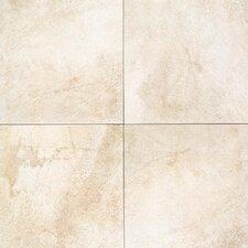 "Portenza 21"" x 21"" Porcelain Field Tile in Bianco Ghiaccio"
