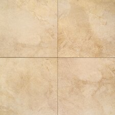 "Portenza 13.75"" x 13.75"" Porcelain Field Tile in Oro Chiaro"