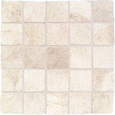 "Portenza 3"" x 3"" Porcelain Tumbled Glazed Mosaic Field Tile in Bianco Ghiaccio"