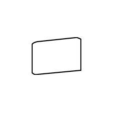 """Rittenhouse Square 6"""" x 3"""" Bullnose Corner Left Tile Trim in Arctic White"""