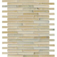 "Fashion Accents 0.63"" x 3"" Glass Mosaic Tile in Sand"