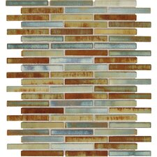"Fashion Accents 0.63"" x 3"" Glass Mosaic Tile in Lake"