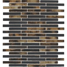 "Fashion Accents 0.63"" x 3"" Glass Mosaic Tile in Umber"